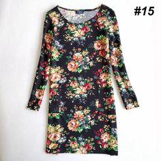 Idealark plus size roupas femininas moda primavera cópia da flor dress senhoras vestidos de manga comprida casual outono vestidos wc0592 em Vestidos de Das mulheres Roupas & Acessórios no AliExpress.com   Alibaba Group