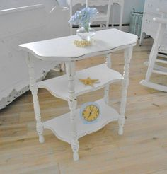 SOLD   shabby chic table furniture painted furniture demi by backporchco, $99.99