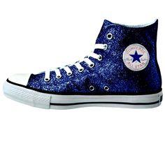 750d06cf152a Women s Sparkly Glitter Converse All Stars High Top - Navy Blue