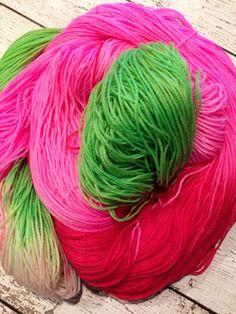 Cindy Lou Who inspired variegated  Christmas yarn