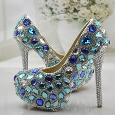 Cheap shoes gallery, Buy Quality shoe finger directly from China shoes can Suppliers: Wedding Shoes Women Pumps Blue Crystal Rhinestone High Heels Shoes Woman Elegant Thin Heels Bridal Shoes Diamond Party Shoes Blue Pumps, Women's Pumps, Shoes Heels, Sparkly Wedding Shoes, Bridal Shoes, Funny Shoes, Diamond Party, Ankle Jewelry, Jeweled Shoes