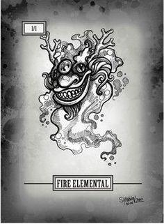 Elemental Red Token for MTG (Shannon Allen) Mtg, Card Stock, Paper Board