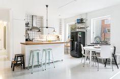 aranżacja otwartej przestrzeni w stylu skandynawskim
