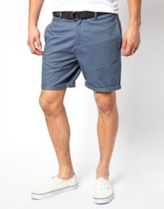 ASOS Chino Short In Heavy Twill With Belt
