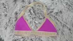 Reworked authentic Calvin Klein Pink & Gold Bikini / Bralette ONLY ONE AVAILABLE Size - Medium (Uk 12) Great for all your summer events Please note that international shipping takes at least 7-10 days Also international shipping does not include tracking, upgrade options available
