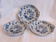 3 Blue Danube China AU Gratin Dishes Onion Design Ovenware | eBay