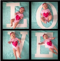 I'm going to do this with smaller wooden letters she can hold. So cute.