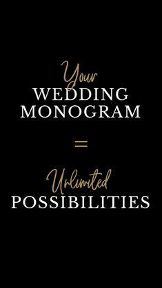 Wedding Monograms, Wedding Logos, Monogram Wedding, Monogram Jewelry, Monogram Necklace, Personal Logo, Wedding Invitation Cards, Wedding Anniversary, Perfect Wedding