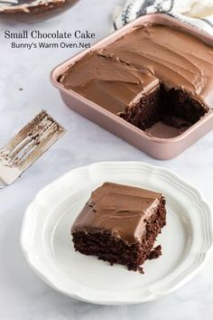 This Small Chocolate Cake recipe is absolutely amazing. It's a very soft, moist cake that can be served with chocolate frosting or without frosting. Chocolate Snacks, Chocolate Cake Recipe Easy, Homemade Chocolate, Chocolate Recipes, Chocolate Icing For Cake, Chocolate Dishes, Small Desserts, Köstliche Desserts, Delicious Desserts