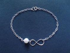 Sterling silver Infinity Pearl Bracelet