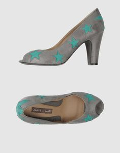JANET & JANET italian shoes collection, open toe with colors stars