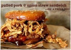 ~Pulled Pork & Onion Straw Sandwich!
