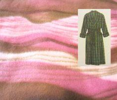Handmade Waves of Pink & Brown Ladies Wrap Around Fleece Belted Robe, Warm Cozy Winter Comfort Soft Plush Gift for Her Ladies Teen Dorm Wear by PJsandMore on Etsy
