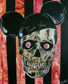 #tattoofacemiller #Disney #mickeymouse #skullart #horrorart #creepyart