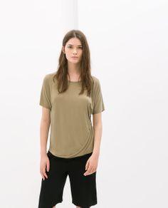 Image 1 of DRAPED T-SHIRT from Zara
