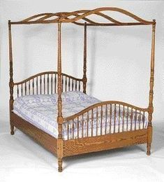 Amish Windsor Post Bed with Optional Canopy