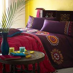 bedding, beds, gypsy decor, colors, duvet covers, bed linens, bohemian bedrooms, bohemian style, home furniture