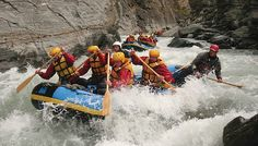 New Zealand has some of the best white water rafting in the world