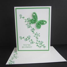 You're So Sweet Butterfly Card friendship by EnchantedRoseByLinda