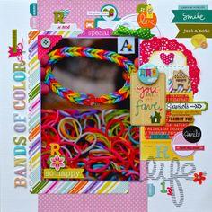 Bands of Color *Echo Park Hippity Hoppity* - Scrapbook.com
