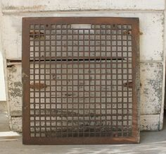 Large Antique Cast Iron Heat Register Floor by robinseggbleunest