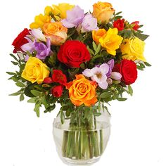 #uk #Flowers - Rose & Freesia