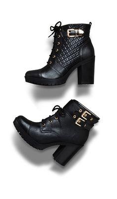 botas de cano curto - coturno de salto alto - winter heels - black - boots - Inverno 2015 - Ref. 15-5801 | 15-5805