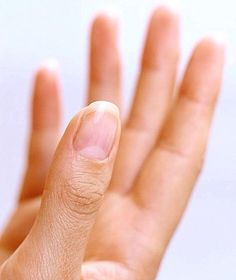 This whitish half-moon on the nails is quite sensitive and must be taken care of.