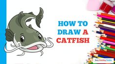 Easy Animals, Draw Animals, Craft Projects For Kids, Arts And Crafts Projects, Popular Cartoons, Easy Arts And Crafts, Coloring Tutorial, Animal Crafts, Step By Step Drawing
