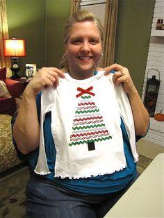 ribbon christmas tree shirt--no link attached
