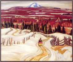 A.Y. Jackson Road To Chicoutimi. Group of Seven