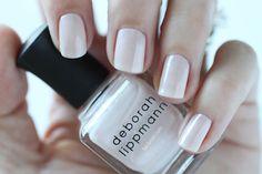 Deborah Lippmann Spring 2015 A Fine Romance Swatch - White Pearl Shimmer Nail Polish