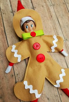 Elf on the shelf hijinks just got easier with Gingy, our original Elf gingerbread man costume! #ChristmasTraditions #HolidaysHandled #ElfontheShelf