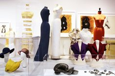 Dress forms, prototypes, millinery experiments and sketches drawn in shoe polish, salvaged from Charles James' studio