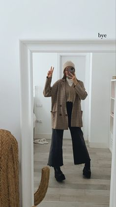 Uni Outfits, Warm Outfits, Fall Winter Outfits, Everyday Outfits, Cool Outfits, Fashion Outfits, Modesty Fashion, Muslim Fashion, Winter Looks