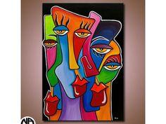 ORIGINAL Gemälde Acryl Leinwand abstrakt Art Malerei Bilder Kunst