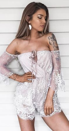 0c9cd1ca595  summer  outfits White Mesh Off The Shoulder Dress ✨ Oh Hello Clothing
