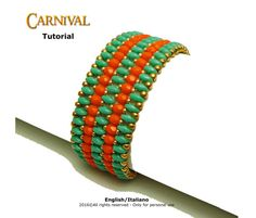 Tutorial Carnival Bracelet  beading pattern by FucsiaStyle on Etsy