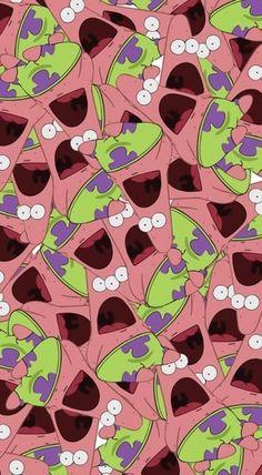 Surprised Patrick background :D lol