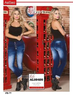 Jeans sin costura lateral