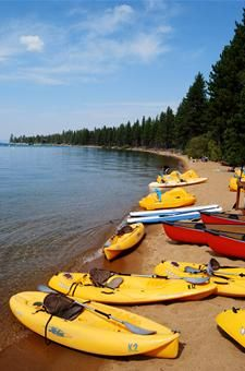 Now this is the place to lake kayak in the summer and fall. Just breathtaking with so many different coves and secluded beaches to explore. Lots of places to rent boats and get lessons if you need them. (photo credit travel.usatoday.com)