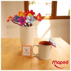Bonne fête maman ! #Maped #Mapedcreatives #fleurs #creation #bouquet #maman #fetedesmeres #the #papillon