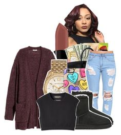 """"""""""" by ayeeitsdessa ❤ liked on Polyvore featuring beauty, Smashbox, H&M, Michael Kors, Casetify and UGG Australia"""