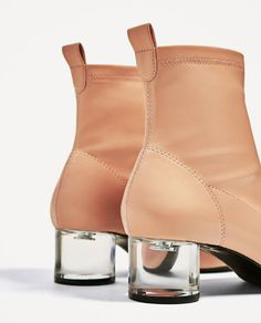 Image 5 of ANKLE BOOTS WITH METHACRYLATE HEEL from Zara