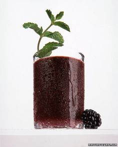 Blackberry-Mint Julep with bourbon.