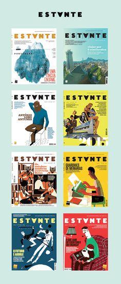 Capas dos 2 anos da Revista Estante, uma produção da Fnac Portugal, com edição da Adagietto - www.adagietto.pt #revistaestante