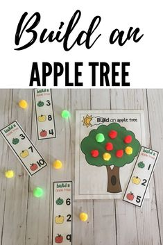 Practice counting by building an Apple tree with different colored apples!