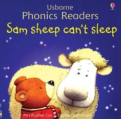 Sam Sheep Can't Sleep~ Sam Sheep is a sheep who can't sleep and goes about the neighborhood waking up his animals friends to consult them about how to fall asleep. By the time all the animals make their rounds, Sam is so tired he falls asleep.