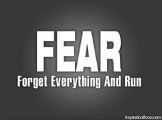 F.E.A.R. Forget everything and run.