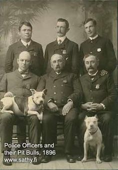 Police officers and their pitbulls 1896. This is when people knew that pits weren't viscous man eaters, but one of the most loyal dogs you could ever own. I will own one for the rest of my life!